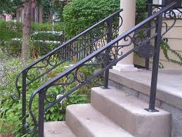 Stairs Railing Height Porch Steps Handrail Outdoor Step Ideas More