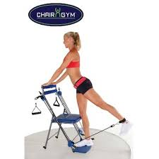 Captains Chair Exercise Youtube by As Seen On Tv Chair Gym Total Body Workout Blue Walmart Com