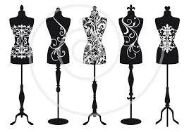 Vintage Mannequin Digital Clip Art Tailors Dummy