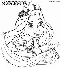 Smiling Princess Rapunzel Coloring Pages Printable