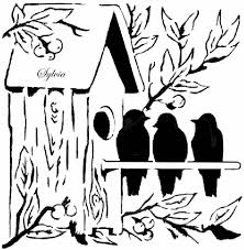 Clip Arts Related To Bird House Coloring Pages
