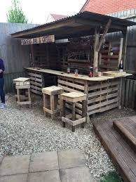 Making The Ultimate Garden Bar DIY Pallet Bars Terraces Patios Rustic Outdoor