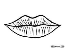 Pin Lips Clipart Coloring Page 3