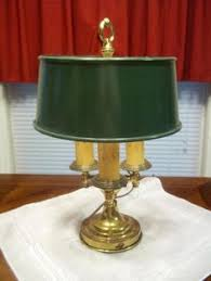 Antique Aladdin Electric Lamps by Antique Aladdin Oil Lamp Green Base W Hurricane Shade Green