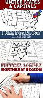 United States Capitals Northeast Region Freebie Sample For Your Elementary Social Studies Classroom Review
