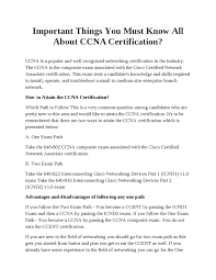 Important Things You Must Know All About CCNA Certification? By ... Configure Voip In Cisco Packet Tracer My Cwnp Cerfication Path Information Cwnp432276 Cwne 86 Detail Hindi Youtube Career Cerfications Computer 45 Best It Images On Pinterest Charity History Certified Network Engineer Sample Resume 3 16 For Fresher Buy Ccnp Switch 642813 Official Guide Book Online Are You The Right Track The Learning Monitor Software Ip Sla Traffic Netflow Analyzer 27 Cisco Traing Tips Technology