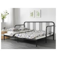 FYRESDAL Day bed with 2 mattresses Black malfors medium firm