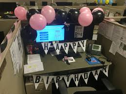 Cute Office Cubicle Decorating Ideas by Birthday Work Decoration Late Birthday Decoration Pink And Black
