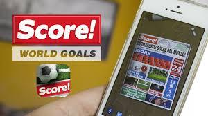 Score World Goals juego de fºtbol para iPhone y iPad