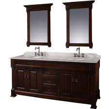 72 Inch Double Sink Bathroom Vanity by Wyndham Collection Andover 72 In Vanity In Dark Cherry With