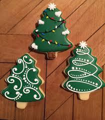 Simple Christmas Tree Cookies Sugar