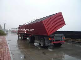 100 End Dump Truck Drawbar Side Dumper End Dump Trailers For Sale Titan Vehicle For