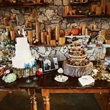 Rustic Wedding Cake Table Decorations