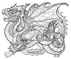 Printable Dragon Coloring Pages Refrence For Adults Montenegroplaze Me Ribsvigyapan
