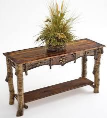 Elegant Birch Bark Sofa Table