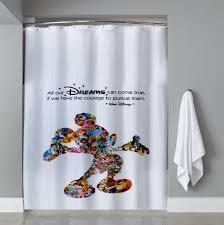 Disney Mickey Mouse Bathroom Decor by Mickey Mouse Shower Curtain Your Wdw Disney Bathroom Decor Mickey