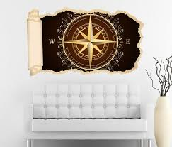 3d wandtattoo tapete kompass nord süd antik gold karte welt durchbruch selbstklebend wandbild wandsticker wohnzimmer wand aufkleber 11o1633