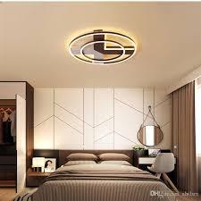 großhandel runde led deckenleuchte schlafzimmer led leuchte decke einfache moderne nordische hotelzimmer rc dimmbare led pendelleuchten ac 85 265 v