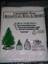 Christmas Tree Removal Bag Skirt Holiday Outdoor Clean Leaves Storage Disposable