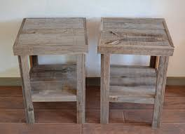 Image Of Rustic Bedside Table Twin
