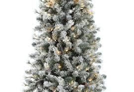 Slim Pre Lit Christmas Tree 75 by 7 5ft Pre Lit Snowy Cone Pine Slim Artificial Christmas Tree