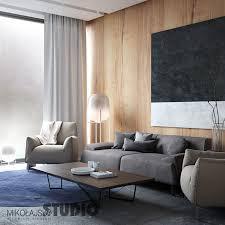 wohnzimmer holzwand mikolajskastudio moderne wohnzimmer