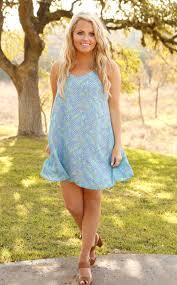 jadelynn brooke beachside belle print dress in blue coastalcami
