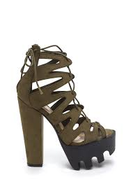get laced rugged platform heels black taupe olive gojane com