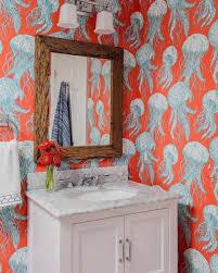 badezimmertapetenmuster zimmer rot vorhang hintergrund