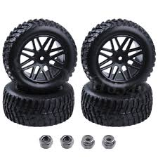 100 Truck Tired 4 Pieces 94mm Rubber 22 RC Pull Rally Tires Wheel Rims