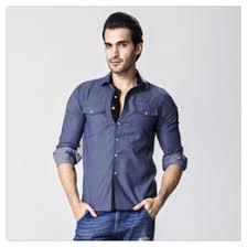 Designer Shirts Men Spring Autumn High Quality Fashion Pure Color Mens Casual Cotton Washing Denim US SizeXS L Deals