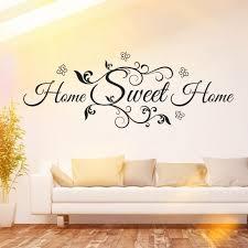 wandtattoo home sweet homeblumen deko idee wohnzimmer