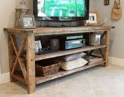 Rustic TV Console Solid Wood By SunshinePartyStudio