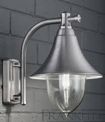 franklite ext6589 lorenz exterior wall lantern in silver grey from