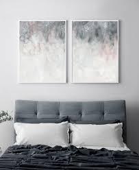 druckbare wandkunst rosa grau wandkunst schlafzimmer druck set set zwei druck erröten rosa grau druck abstrakte wandkunst abstrakt druckbare