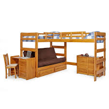 Mainstays Bunk Bed by Furniture Woodcrest Heartland Futon Bunk With Extra Loft Honey