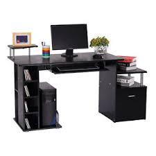 bureau pour ordinateur bureau informatique table pour ordinateur pc en mdf noir neuf 13