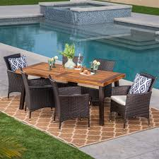 Noble House 7-Pc Outdoor Dining Set In Teak And Beige Finish And Teak Fniture Timber Sets Chairs Round Porch Fa Wood Home Decor Essential Patio Ding Set Trdideen As Havenside Popham 11piece Wicker Outdoor Chair Sevenposition Eightperson Simple Fpageanalytics Design Table Designs Amazoncom Modway Eei3314natset Marina 9 Piece In Natural 7 Brampton Teak7pc Brown Classics