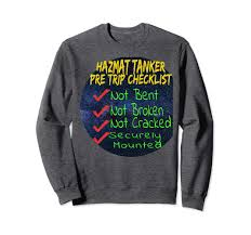 Amazon.com: Cool CDL Hazmat Tanker Trucking Sweatshirt For Truck ...