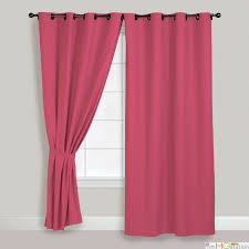 Ruffle Blackout Curtain Panels by Other Kids Curtains Kids Pink Ruffle Curtain Panels