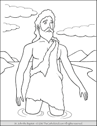 John The Baptist Coloring Pages 13 Saint