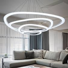 modern chandelier acrylic lights circles l for dinning room