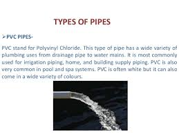 Pictures Types Of Pipes Used In Plumbing by P P T On Water Distribution System By Manish Pandey