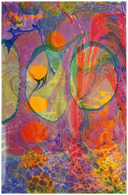 Heres An Acrylic On Paper Work By Well Known Contemporary Painter Philip Taafe