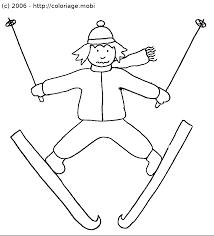 Coloriage Skieur En Détresse
