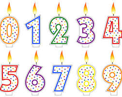 Digital Clipart Birthday Candles Number Candles Rainbow Party Pride Candle Scrapbooking