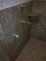 100 In Marble Walls Polished Emperador Brown Sudbury Marble Shower Walls Overall View