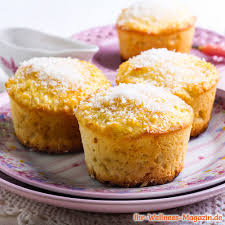 saftige low carb zitronen kokos muffins einfaches rezept