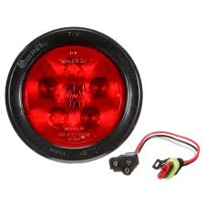 100 Truck Lite Cross Reference Super 44 LED Red Round 6 Diode StopTurnTail Black Grommet