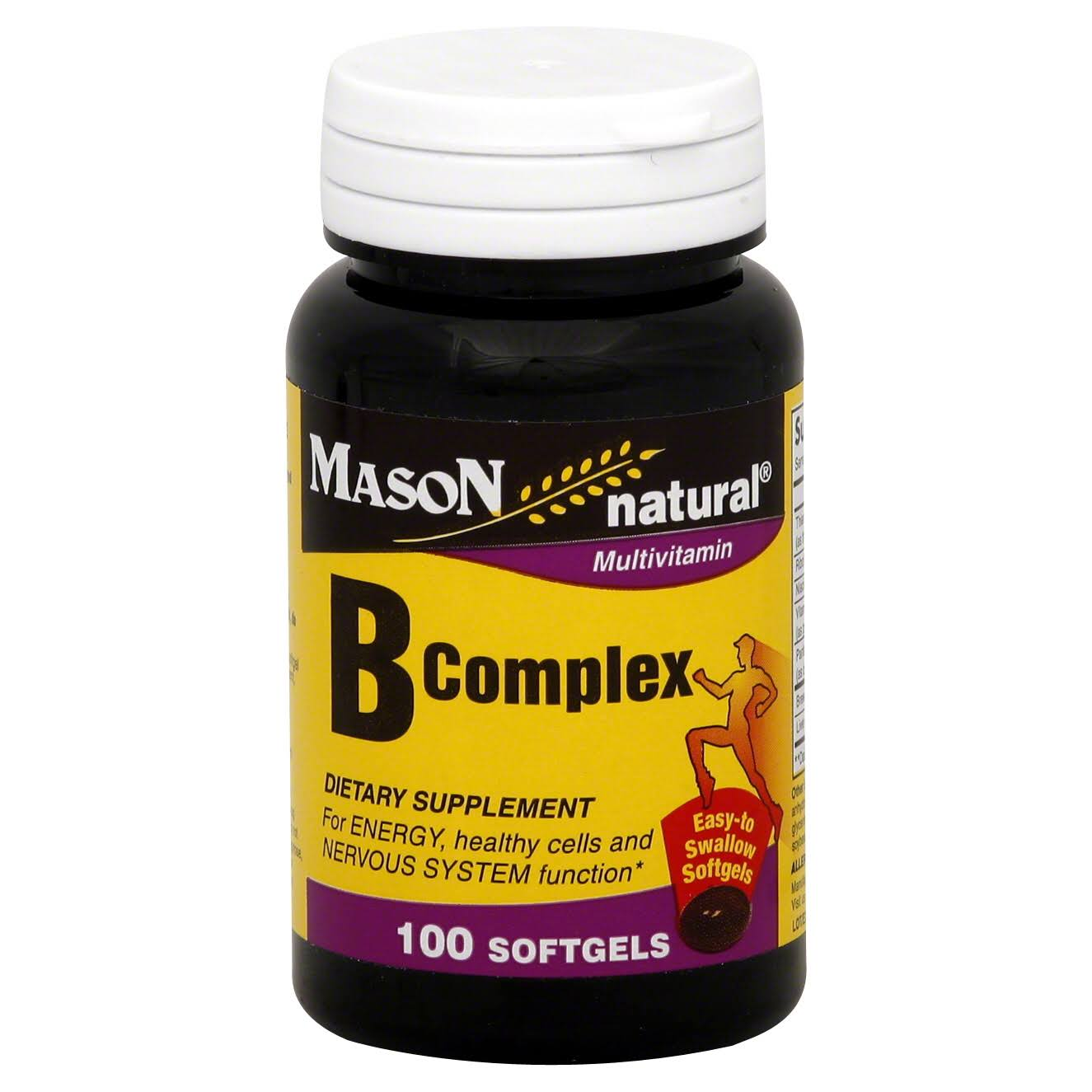 Mason Natural B Liquid Complex Dietary Supplement - 100 Softgels